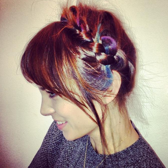 Alexa Chung con l'hairchalk