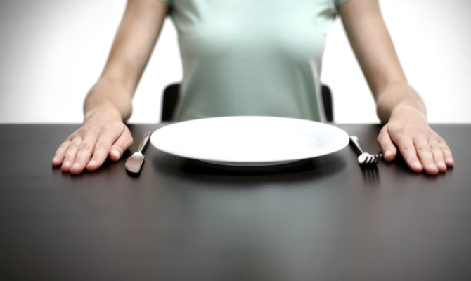 Piatto vuoto pasto