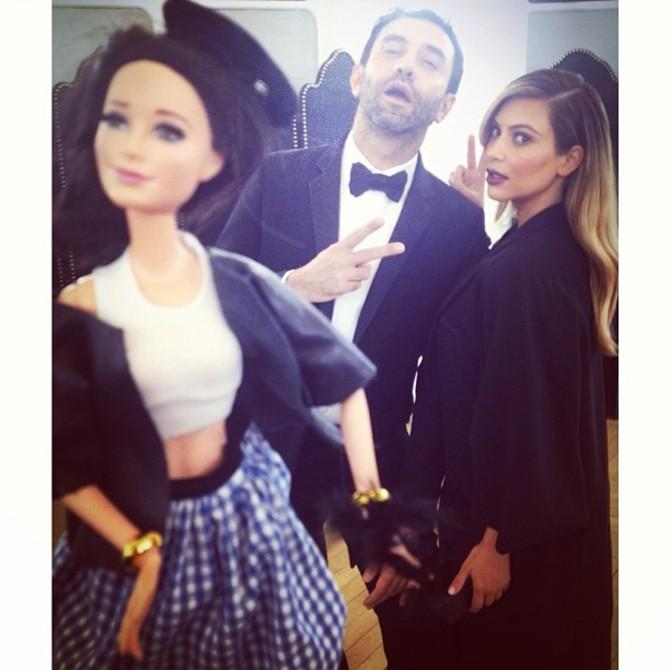 Barbie Birkin con Kim Kardashian e Riccardo Tisci