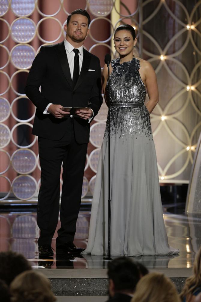 Channing Tatum e Mila Kunis ai Golden Globes