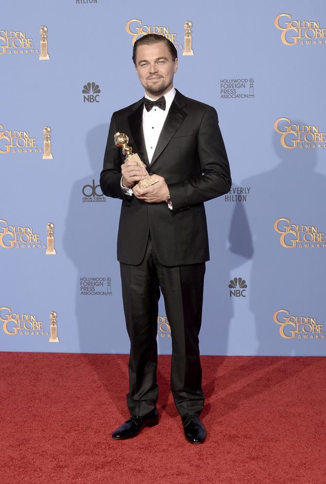 Leonardo Di Caprio ai Golden Globes