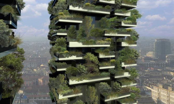 Un bosco che svetta su Milano