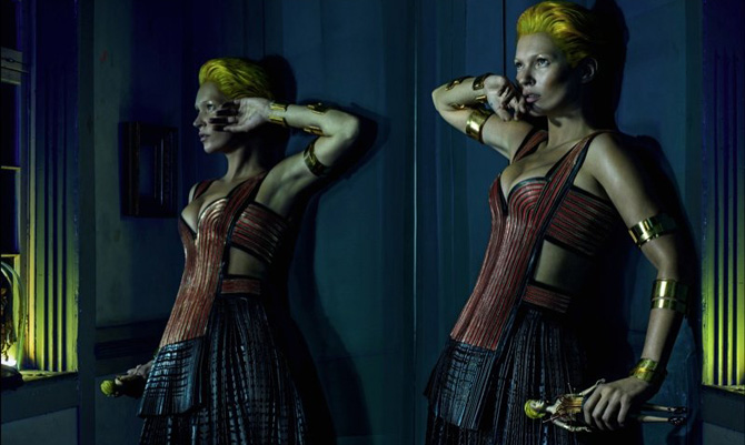 Kate in stile voodoo per Alexander McQueen