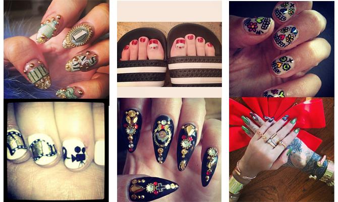Sui social la nail-art folle delle star