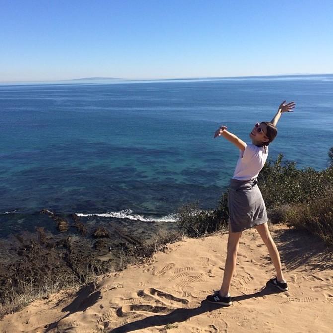 Pixie Geldof escursionista