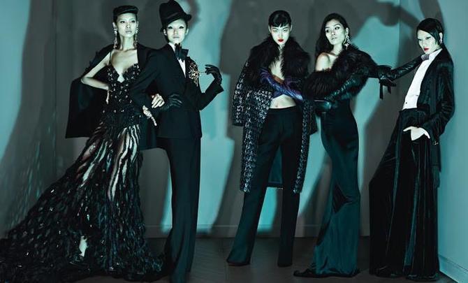 Xiao Wen Ju e altre modelle per Dsquared2
