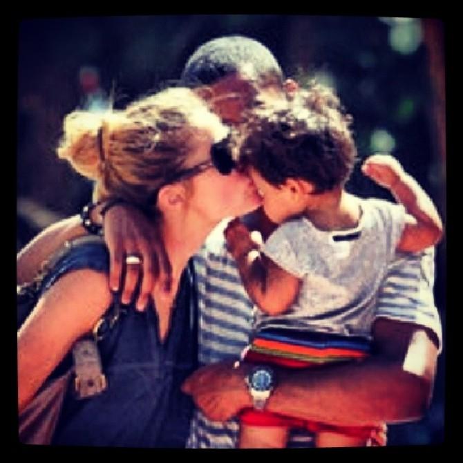 Doutzen Kroes e famiglia