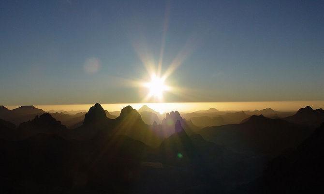 Sunrise, alba, montagne
