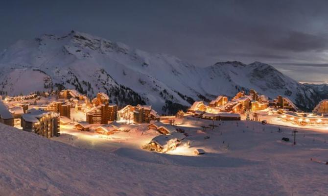 Avoriaz, neve, montagna, notte