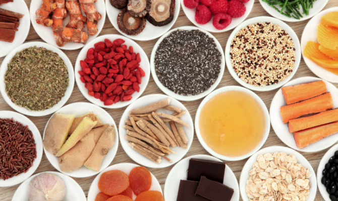 Alimenti in ciotole