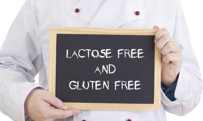 Lavagna che riporta la dicitura  gluten free