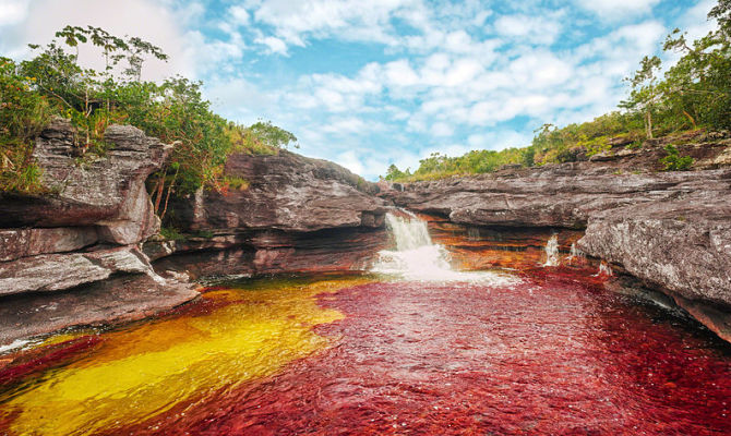 fiume, colori, alghe, colombia