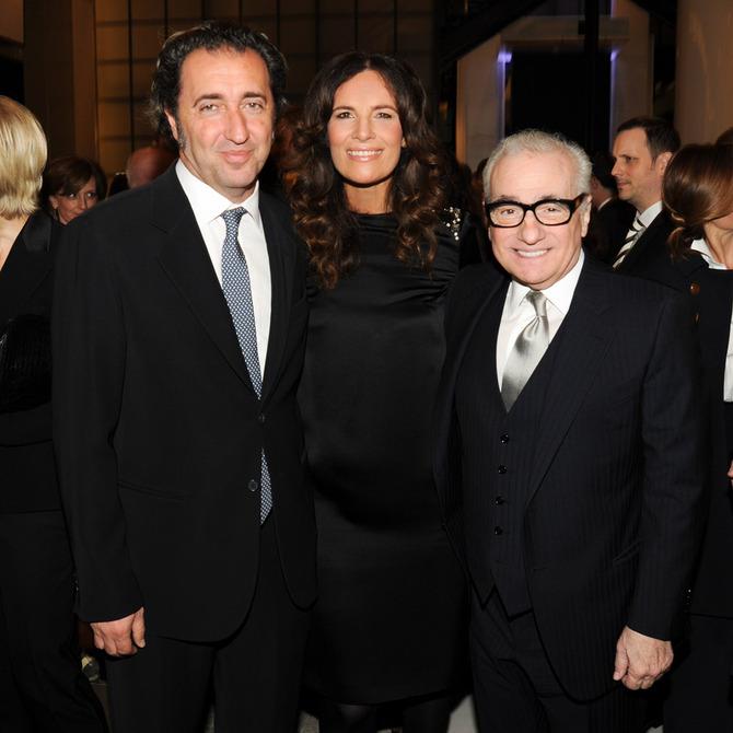 Paolo Sorrentino, Roberta Armani e Martin Scorsese