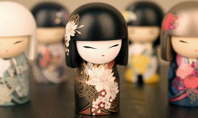 Le bambole porta fortuna ispirate al Giappone