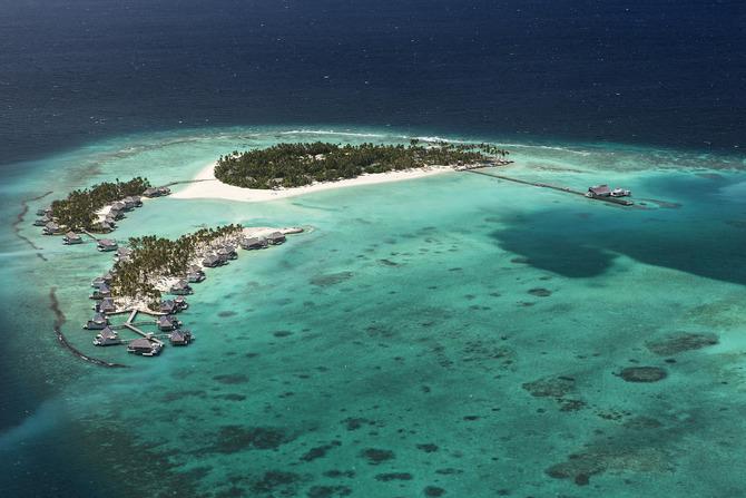 Atollo nelle Maldive