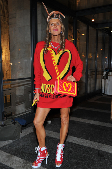 Anna Dello Russo in Moschino capsule collection