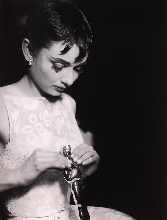 Audrey Hepburn con l'Oscar
