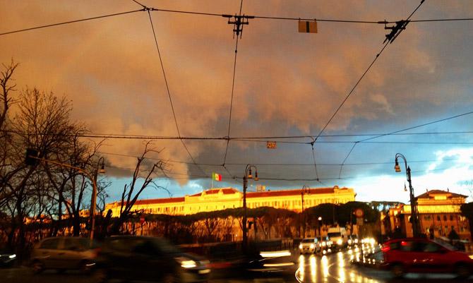 Le nuvole di Roma nelle opere di Myra Bonifazi