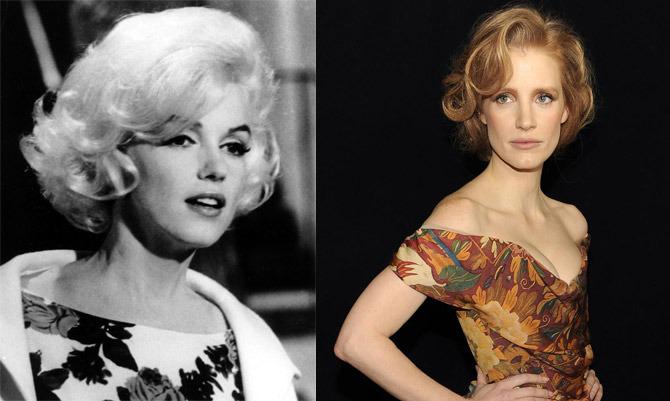 Marilyn Monroe e Jessica Chastain