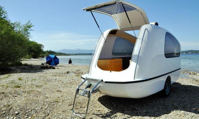 Caravan anfibio. Per vacanze fuori dal comune