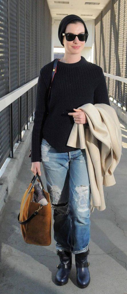Anne Hathaway street look