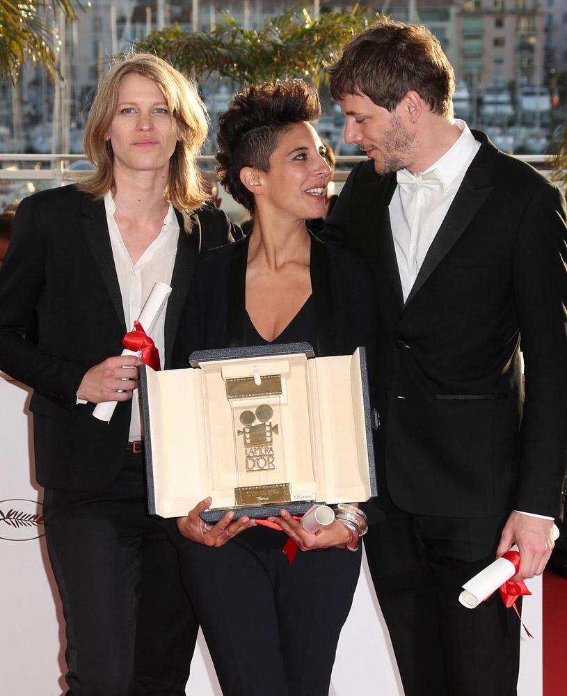Samuel Theis, Marie Amachoukeli e Claire Burger a Cannes