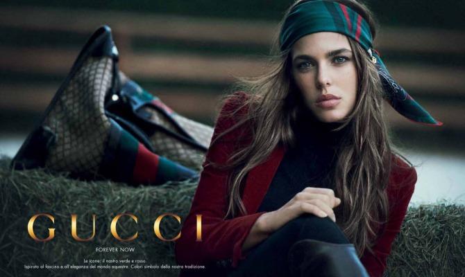 Charlotte Casiraghi è ancora la donna Gucci