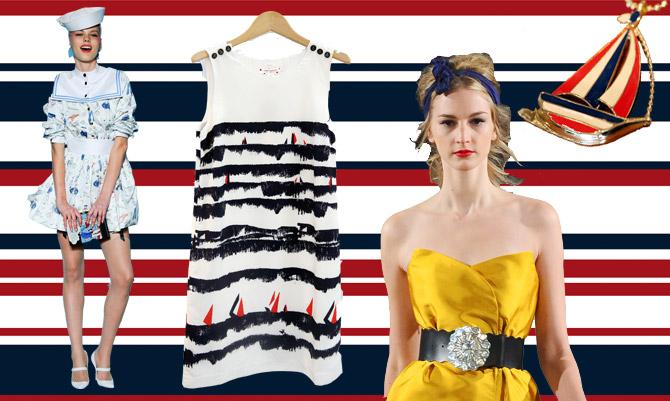 Navy e pin-up: la moda torna agli anni '50
