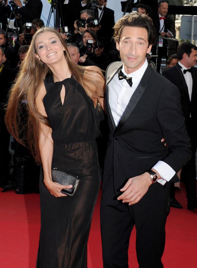 Adrien Brody e Lara lieto a Cannes