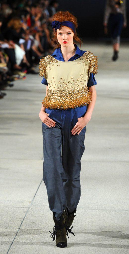Camicia, top e pantaloni Alexis Mabille