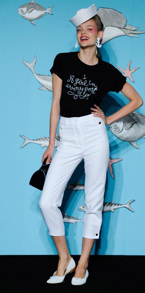 T-shirt e pantaloni capri Olympia Le Tan