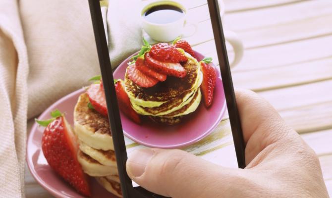 Smartphone e cibo