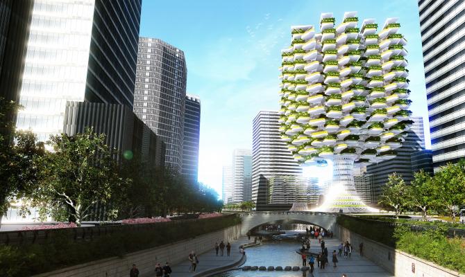 Urban Skyfarm, il mastodontico orto urbano