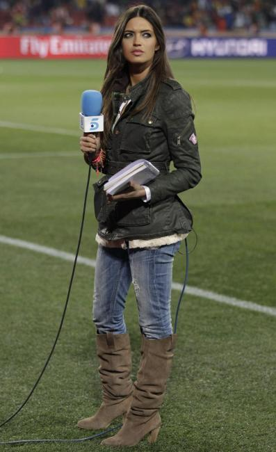 Sara Carbonero, regina del campo da calcio