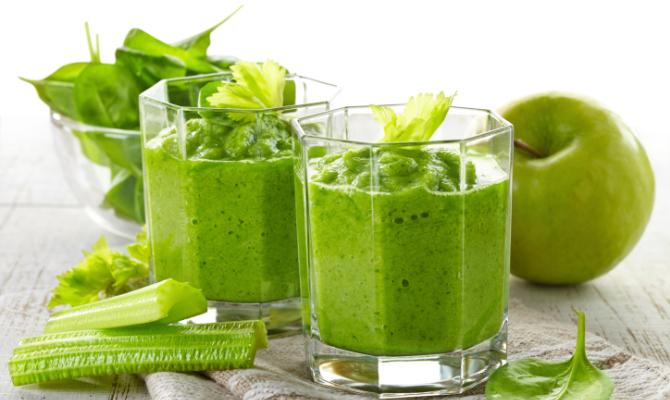 smoothie, centrifugato, verde