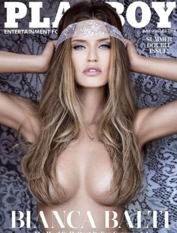 Bianca Balti sulla copertina di Playboy America Luglio/Agosto