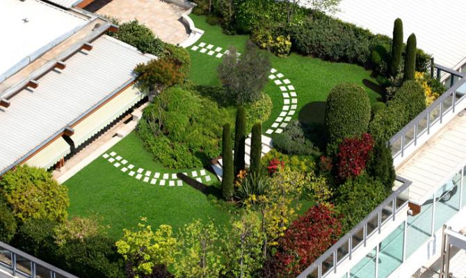 coperture edifici con vegetazione