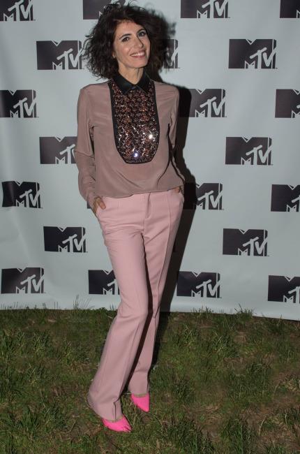 Giorgia, l'ugola d'oro veste in rosa