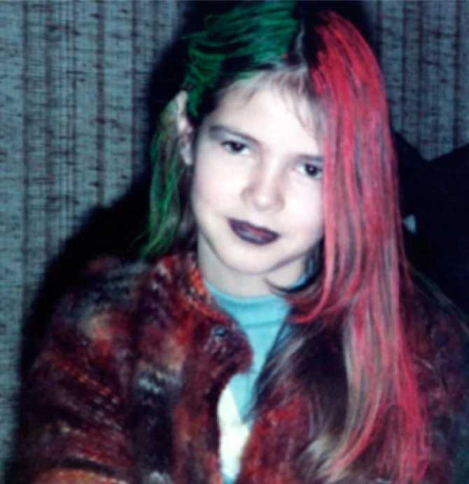 Heidi Klum da bambina
