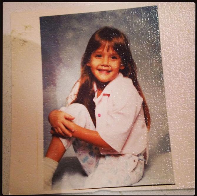 Jessica Alba da bambina