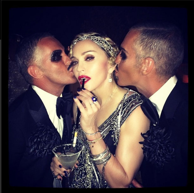 Madonna e Dean e Dan Caten