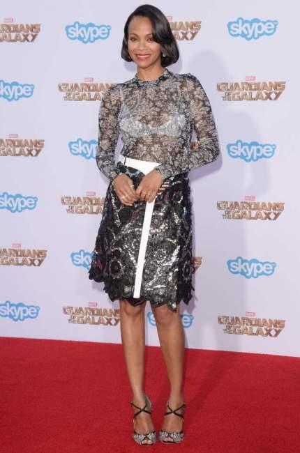 Zoe Saldana Guardian of the Galaxy premiere