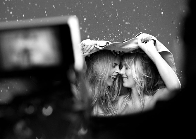 Backstage campagna My Burberry