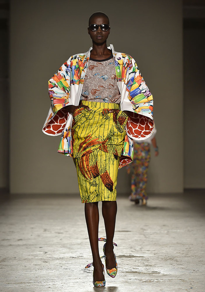 Kimono, top e gonna Stella Jean