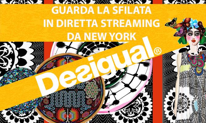 Alle 21 diretta streaming della sfilata Desigual