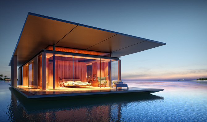 La casa galleggiante è anche 'portatile'