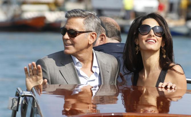 George Clooney e Amal Alamuddin a Venezia