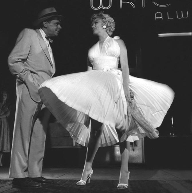 Marilyn sul set di  Quando la moglie è in vacanza , 1954