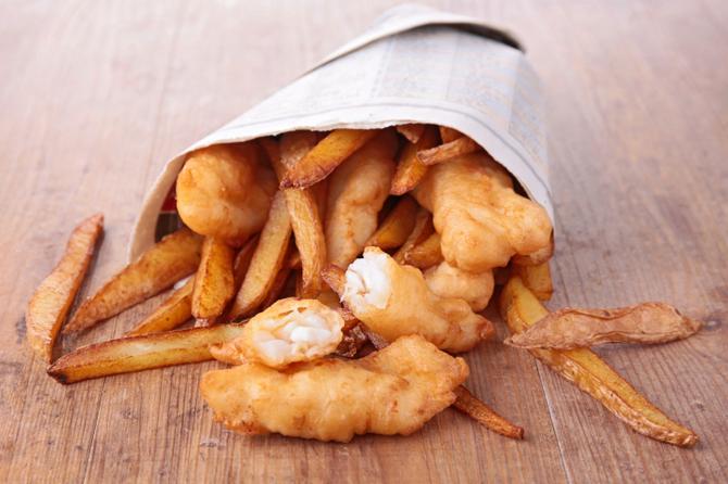 Pesce fritto nel cono
