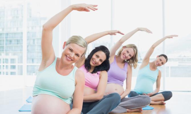 gravidanza, sport, yoga